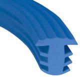 traptrede profiel rubber blauw