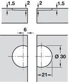 klepscharnier 30 mm