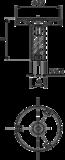 Tenische metalen stelpoot M10 x 20 mm