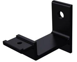Trapleuninghouder VLAK zwart, keilboutbevestiging
