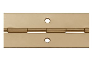 Pianoscharnier staal vermessingd 20 mm
