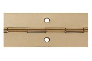 Pianoscharnier staal vermessingd 25 mm