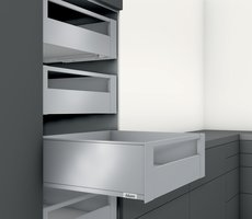 Blum legrabox binnenlade met reling 193 mm, softclose