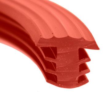 antislip profiel rood rubber